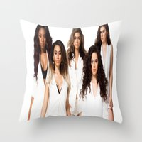 fifth harmony Throw Pillows featuring Fifth Harmony by Raquel S