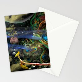 The Bioluminoidal Fractalization Process Stationery Cards