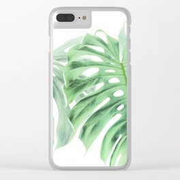Monstera Tropical Leaf Photography | Green | Botanical | Dream Pattern | Art Print | Home Decor Clear iPhone Case