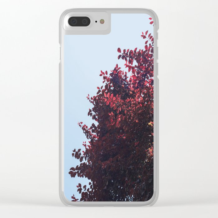 Dear red tree Clear iPhone Case