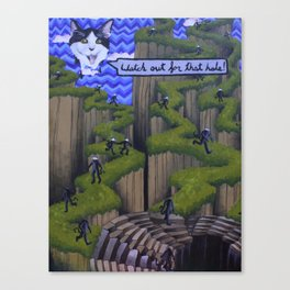 Watch out for that hole! Canvas Print
