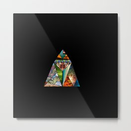 Geometric Tiger Metal Print