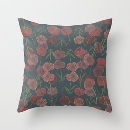 CONTINUOUS FLORAL Throw Pillow