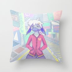 Pastel Street Snap Throw Pillow