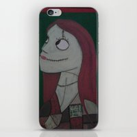 nightmare before christmas iPhone & iPod Skins featuring SALLY/NIGHTMARE BEFORE CHRISTMAS by Kathead Tarot/David Rivera