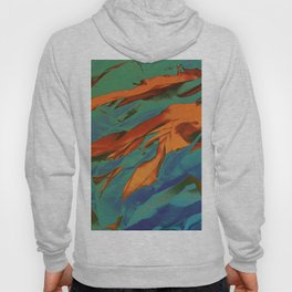 Green, Orange and Blue Abstract Hoody