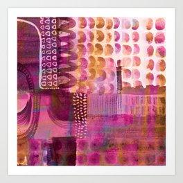 Plum Hued Abstract Art Print