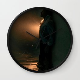 Mysterious Man Wall Clock