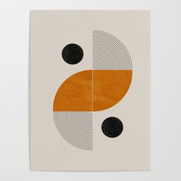 Abstract Geometric Shapes Poster