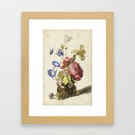 Flowers in a Bottle by Dirck de Bray Framed Art Print
