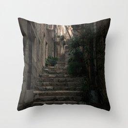 Dubrovnik, Croatia: Stairway Throw Pillow