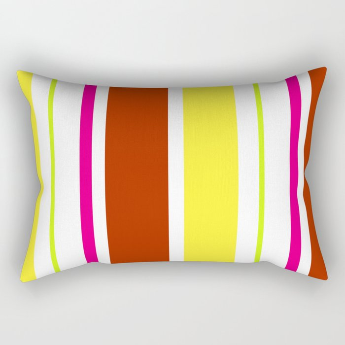 Stripes in colour 4 Rectangular Pillow