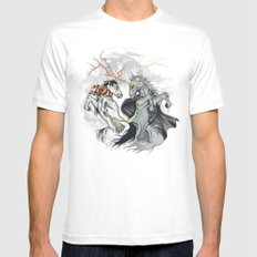 Retold with Unicorns II MEDIUM Mens Fitted Tee White
