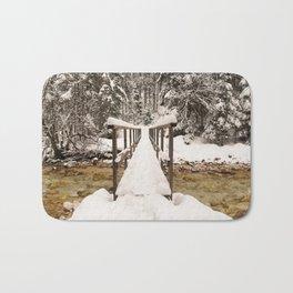 Pericnik Falls Snowy Bridge Bath Mat