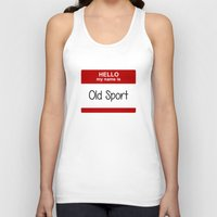 sport Tank Tops featuring Old Sport by discojellyfish