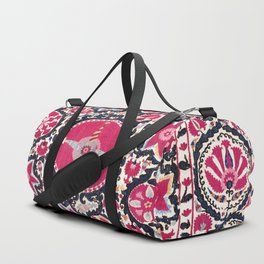 Ura Tube Suzani Northeast Uzbekistan Embroidery Print Duffle Bag