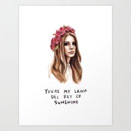 Lana Music Poster Art Print03 Art Print