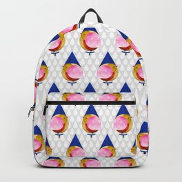 048 birdie kisses the sweet morning raindrop pattern Backpack