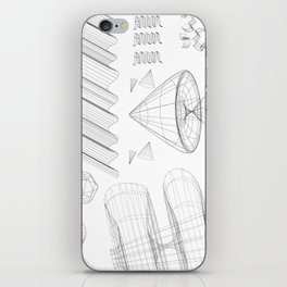 Wireframe Party iPhone Skin