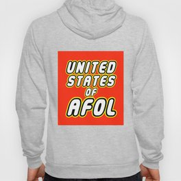 UNITED STATES OF AFOL in Brick Font Logo Design by Chillee Wilson Hoody