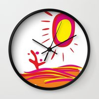 desert Wall Clocks featuring Desert by salamandra7