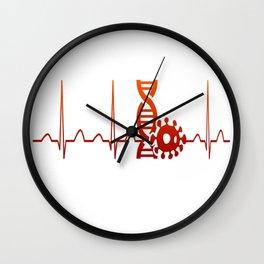 Biologist Heartbeat Wall Clock