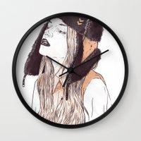 russian Wall Clocks featuring Russian by Lola Beltrán