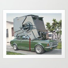 Hybrid Vehicle Art Print
