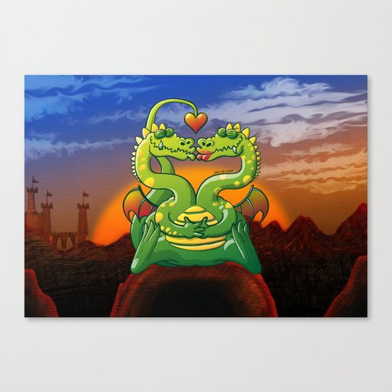 Dragons Madly in Love Canvas Print