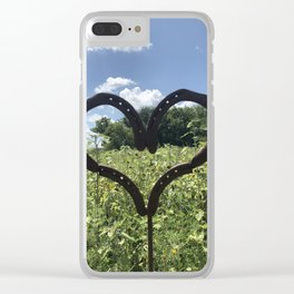 Horseshoe Hearts Clear iPhone Case