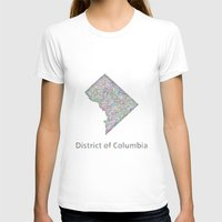 dc T-shirts featuring DC map by David Zydd