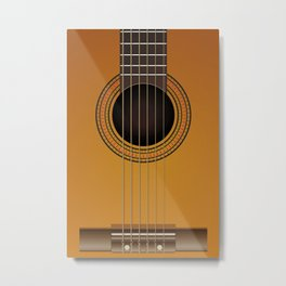 classical guitar music Metal Print
