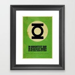 Green Lantern (Super Minimalist series) Framed Art Print