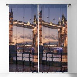 Historic Tower Bridge Thames River London Capital City England United Kingdom Romantic Sunset UHD Blackout Curtain