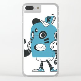 Fire Robot Clear iPhone Case