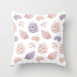winter cone pattern II Throw Pillow