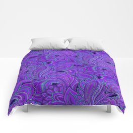 paisley paisley purple Comforters