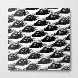 Fish And Whale Metal Print