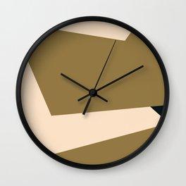 Minimal abstract geometric painting Wall Clock