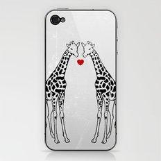 Giraffe Love iPhone & iPod Skin