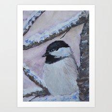 Maine Chickadee Art Print