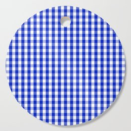 Cobalt Blue and White Gingham Check Plaid Squared Pattern Cutting Board