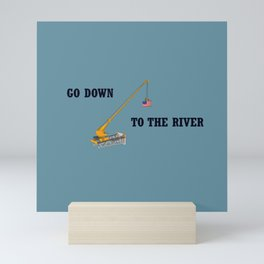 Go down to the river Mini Art Print