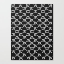 Skull Pattern Canvas Print