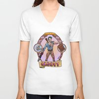 evil dead V-neck T-shirts featuring Ash from Evil Dead by Paul Abstruse