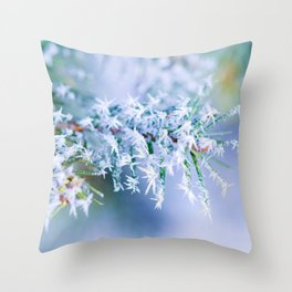Bitter Cold, Winter Colors Throw Pillow