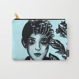 Blue Belladonna | Blue | Belladonna | Portrait | Art | Portrait Carry-All Pouch