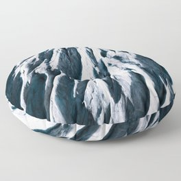 Arctic Glacial Pattern from above - Landscape Photography Floor Pillow