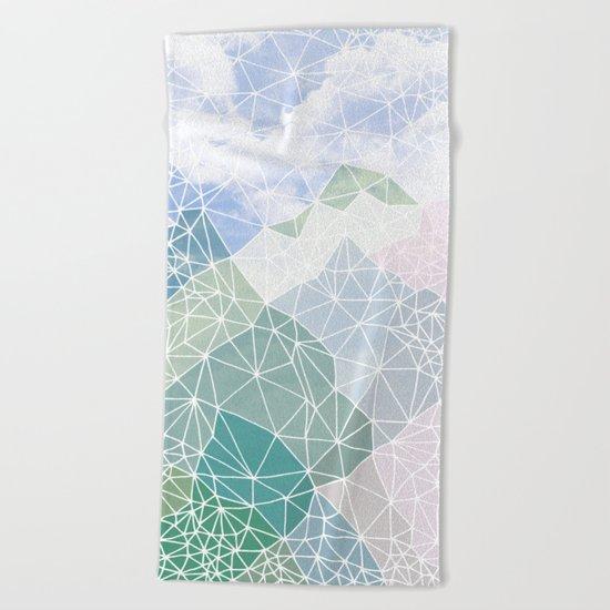 Multicolour Magic Mountains Beach Towel