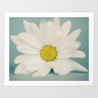 daisy Art Prints featuring DAISY  by Laura Ruth